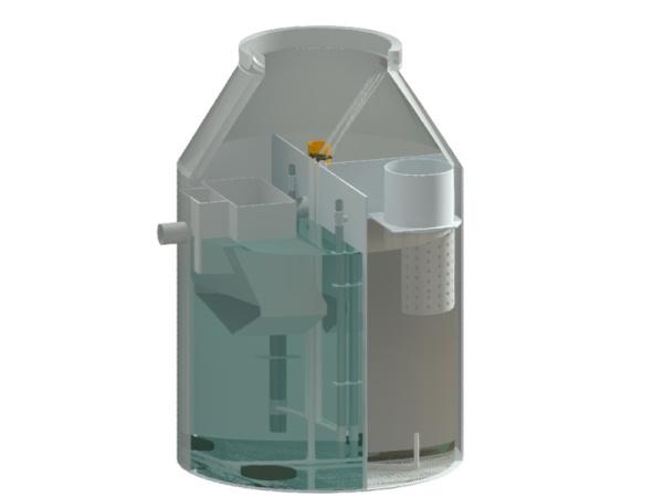 Модел на малка пречиствателна станция за отпадни води WT с капацитет до 25 ЕЖ